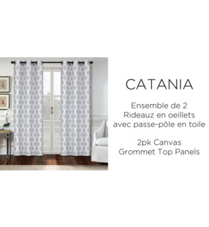 2 PK Catania canvas grommet top panel  42x84 6/b