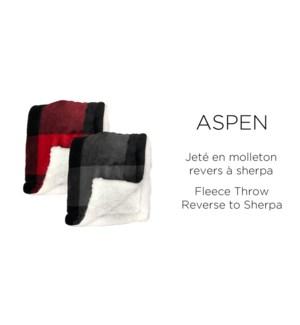 Aspen Fleece/sherpa-ASSORTED-50X60-JET