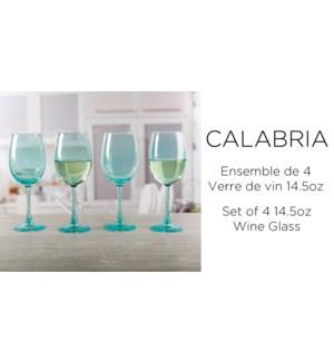 Calabria Aqua Verre vin St/4 14.75OZ 6/B