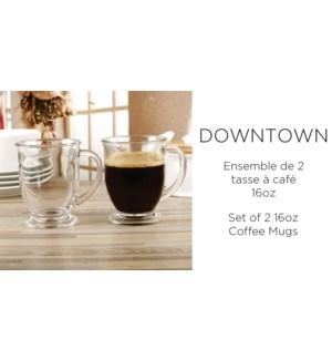 Downtown  Tasse … caf' ST/2 16 oz 6/B