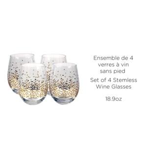 CONFETTI ENS/4 18.9oz ENSEMLESS GLASS