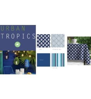 URBAN NAPPE DE TABLE POUR EXTERIEUR BLUE ASST 52X70 12B
