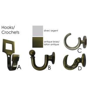 Assorted Hooks A, B, C, D 16/B