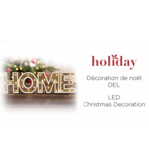 Apparence bois maison LED - 38x11-12B
