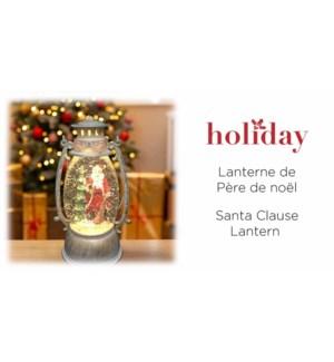 XMAS Santa Ball Lantern Paillettes - Lavage Blanc - 13.5x24