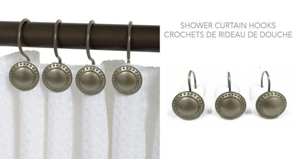 CROCHETS DE DOUCHE METAL 12PCS ENSEMBLE 6B