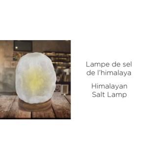 Lampe au sel de l'Himalaya BLANC 2-3KG - 6B