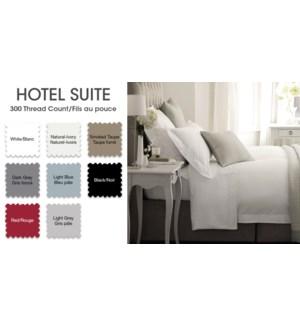 Hotel Plw Shams T300 Ctn Red Q