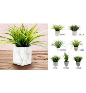 14''H Succulentes dans Pot-Gry 4 B