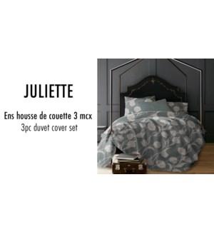 JULIETTE TULIPS 3PC ENS HOUSSE DE COUETTE ARDOISE GRAND 4B