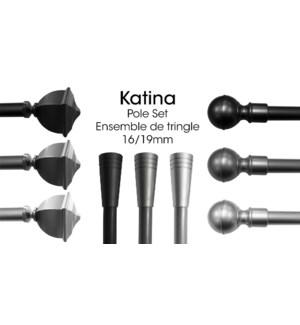 KATINA ENSEMBLE DE TRINGLE NOIR 16/19 66X120