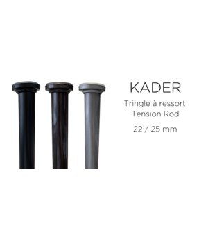 BARRE A TENSION KADER-NOIR-24 x 36-ROD SET  6/b