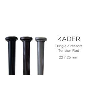 BARRE A TENSION KADER-Gunmetal-24 x 36-ROD SET  6/b