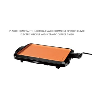 HEALTHY ELECTRIC GRIDDLE WITH CERAMIC COPPER FINISH 4/B