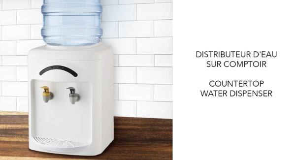 COUNTER TOP WATER DISPENSER HOT/COLD WHITE