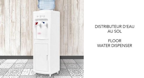 FLOOR WATER DISPENSER HOT/COLD WHITE