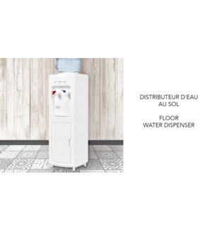 FLOOR WATER DISPENSER HOT/COLD WHITE