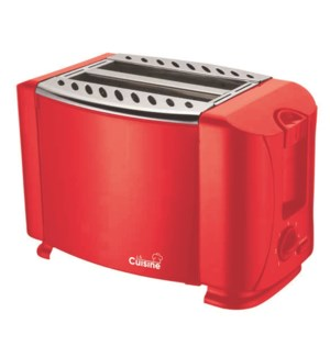 2-SLICE ELECTRIC TOASTER IN RED 8/B