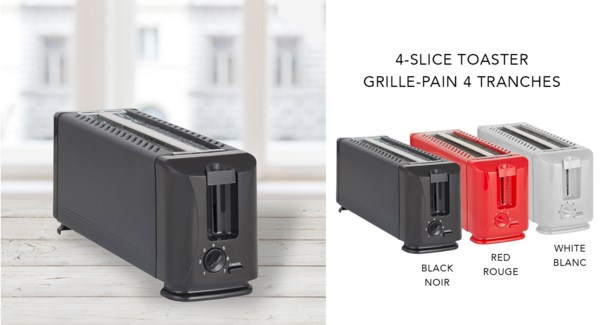 4-SLICE TOASTER IN RED 8/B