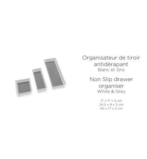 ORGANISATEUR DE TIROIR ANTIDERAPANT 40X17X5CM