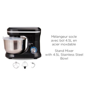 STAND MIXER WITH 4.5L STAINLESS STEEL BOWL/8 SPDS