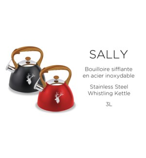 SALLY 3L STAINLESS STEEL WHISTLING KETTLE  CAPSULATED BOTTOM