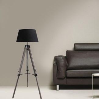 LAMPE DE TABLE TRPIED AVEC BASE EN BOIS NOIR 65*55*144 4/B