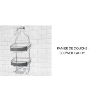 Panier de douche Textiline - Noir - 29.5x12x60 - 6B
