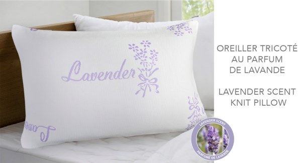 "Lavender Knitted Pillow Shell 18.5x28.5"" Q"