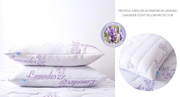 "PROTÔGE-OREILLER AU PERFUM DE LAVANDE21x31"" GRAND 12B"