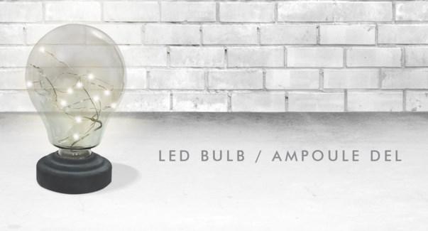 LED LIGHT BULB 15X15CM 6/B