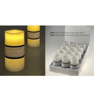 Bougie LED blanche avec minuterie (4H / 8H) 7,5x15CM - 24B