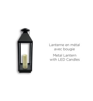 Grande lanterne noire … LED 19x19x47.5 - 2B