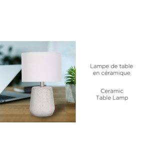 Lampe de table en c'ramique- 23x23x40 -4B
