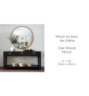Miroir en bois de chˆne 55x55-4B