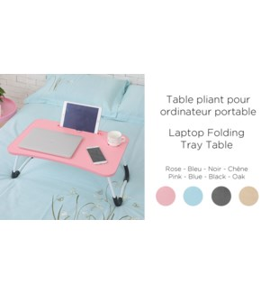 LAPTOP FOLDING TRAY TABLE-BLACK 1/B