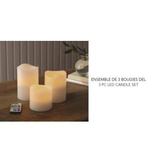 Led Candles 3Pcs. Set Vannla