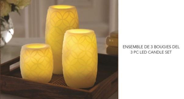 Led Candles 3Pcs. Set Vanla