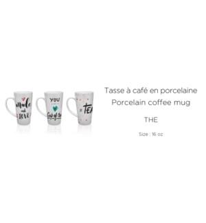 'The'' 16OZ  16OZ Porcelain Latte Mug