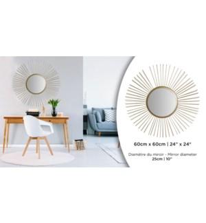 Miroir Soleil Or Rond - 60x60 - 4B