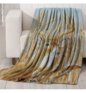 Mink Prt Throw Deer 50x60 6b