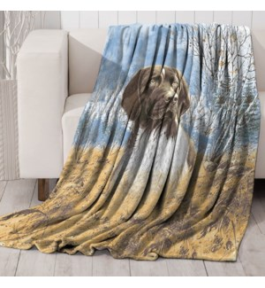 Mink Prt Throw Dog 50x60 6b