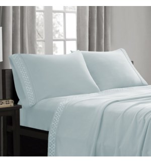 Embroid Mf Sheet Set ICE BLUE T 12B