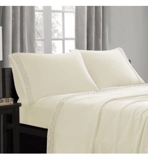 Embroid Mf Sheet Set IVY/LIN Q 12B