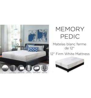"12"" Memory-pedic Firm-Blanc-193x203-MATTRESS"