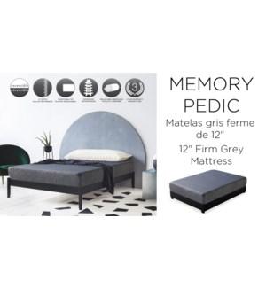 "12"" Memory-pedic Firm-Gris-135X190-MATTRESS"