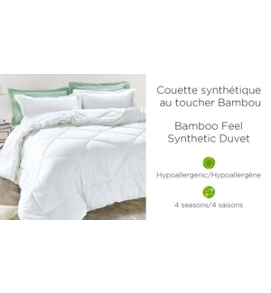 COUETTE SYNTHETIQUE EFFET BAMBOO Duvet Whi K 3/b