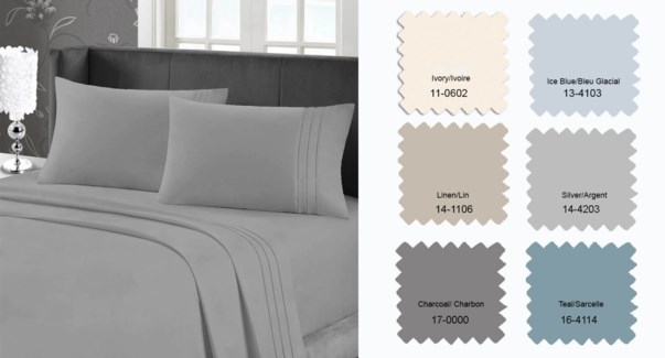 95 GSM MF W/EMB SHEET SET Q SILVER