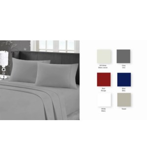 95 GSM MF W/EMB SHEET SET K CHARC