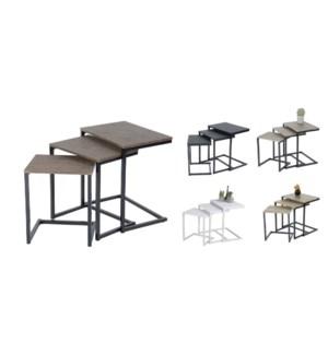 Maximo 3pcs Set de Table de caf' blanc 1/CTN
